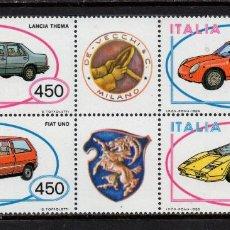 Sellos: ITALIA 1644/47** - AÑO 1985 - AUTOMOVILES ITALIANOS. Lote 142876226