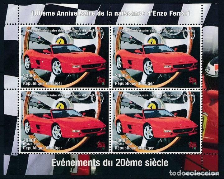 SELLOS NIGER 1998 FERRARI (Sellos - Temáticas - Automóviles)