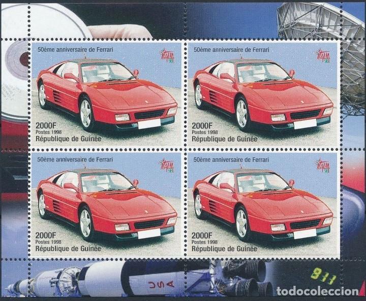 SELLOS REPUBLICA DE GUINEA 1998 FERRARI (Sellos - Temáticas - Automóviles)