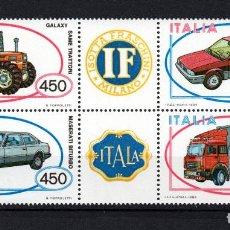 Sellos: ITALIA 1604/07** - AÑO 1984 - AUTOMOVILES ITALIANOS. Lote 144860554