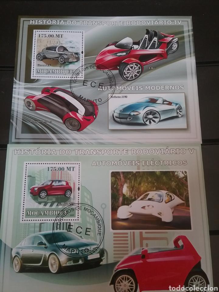 HB R. MOZAMBIQUE MTDOS/2009/HISTORIA TRANSPORTE TERRESTRE/COCHES ELECTRICOS/AUTOMOVIL/ (Sellos - Temáticas - Automóviles)