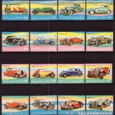 Sellos: GUINEA ECUATORIAL 1977 IVERT 105 Y AEREO 89 *** AUTOMOVILES - COCHES ANTIGUOS. Lote 148522450