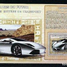 Sellos: CONGO 2006 HB *** LOS COCHES DEL FUTURO - LAMBORGHINI - AUTOMOVILES. Lote 155840122