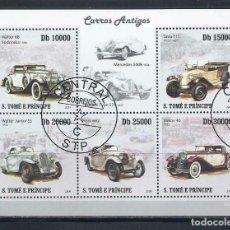 Sellos: SANTO TOME & PRINCIPE 2009 HB - AUTOMOVILES - COCHES ANTIGUOS. Lote 155916790