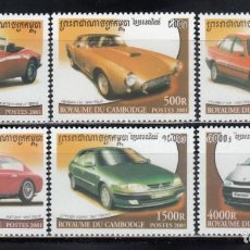 Timbres: CAMBOYA, 2001 YVERT Nº 1756 / 1761 /**/, COCHES ANTIGUOS . Lote 157349814