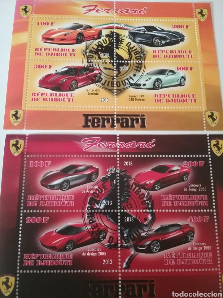HB R. DJIBOUTI (YIBUTI) MTDOS/2013/COCHES FERRARI/AUTOMOVILES/TRANSPORTE/CABALLO/LOGOTIPO/VEHICULOS (Sellos - Temáticas - Automóviles)