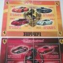 Sellos: HB R. DJIBOUTI (YIBUTI) MTDOS/2013/COCHES FERRARI/AUTOMOVILES/TRANSPORTE/CABALLO/LOGOTIPO/VEHICULOS. Lote 158905193