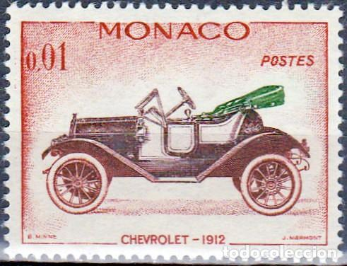 1961 - MONACO - COCHES ANTIGUOS - CHEVROLET 1912 - YVERT 557 (Sellos - Temáticas - Automóviles)
