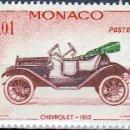Sellos: 1961 - MONACO - COCHES ANTIGUOS - CHEVROLET 1912 - YVERT 557. Lote 159419518
