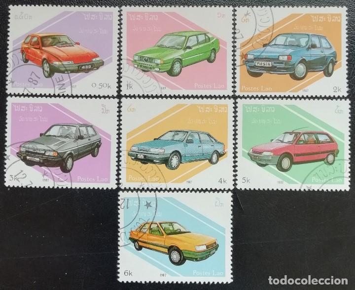 1997. AUTOMÓVILES. LAOS. 784 / 790. DIFERENTES MODELOS. SERIE COMPLETA. USADO. (Sellos - Temáticas - Automóviles)