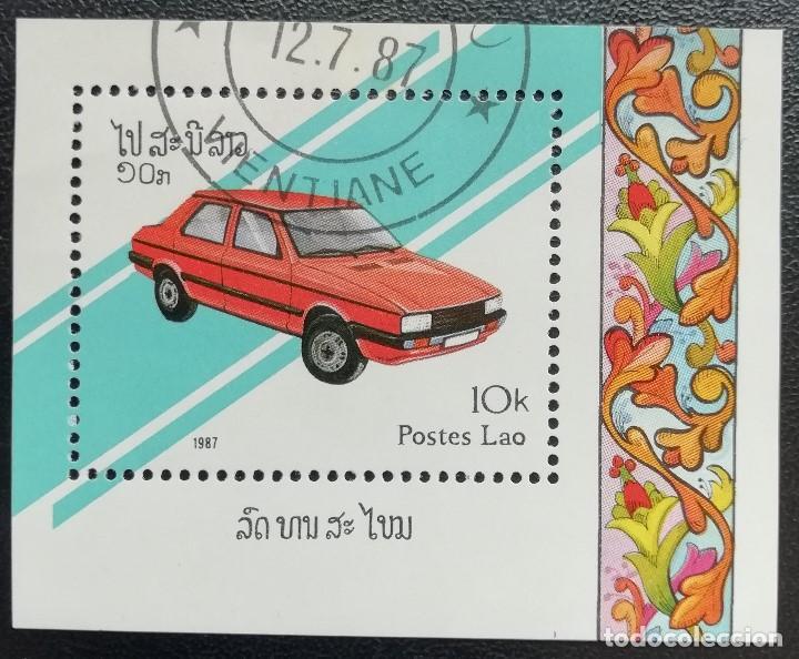 1987. AUTOMÓVILES. LAOS. HB 95. USADO. (Sellos - Temáticas - Automóviles)