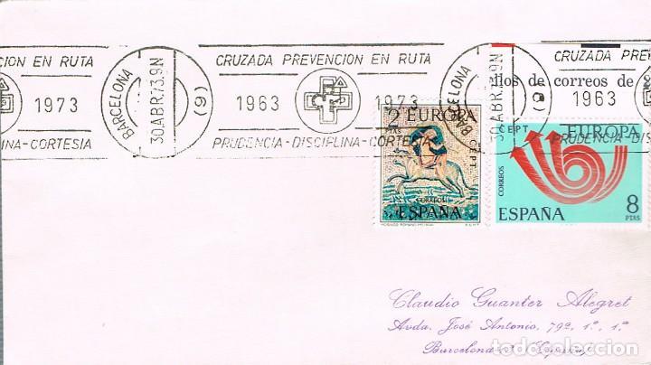 AÑO 1973, CRUZADA DE PREVENCION EN RUTA (B), RODILLO (Sellos - Temáticas - Automóviles)
