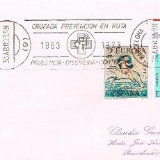 Sellos: AÑO 1973, CRUZADA DE PREVENCION EN RUTA (B), RODILLO. Lote 161131614
