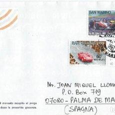 Sellos: 1991. SAN MARINO. SOBRE CIRCULADO. AUTOMOVILISMO/AUTO RACING. DEPORTES/SPORTS. COCHES/CARS.. Lote 163366538