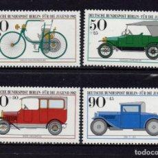 Sellos: BERLÍN 621/24** - AÑO 1982 - AUTOMOVILES HISTORICOS - MUSEO ALEMAN DE MUNICH. Lote 259038765