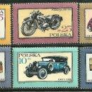 Sellos: POLONIA 1987 IVERT 2902/7 *** AUTOMOVILES Y MOTOCICLETAS ANTIGUAS. Lote 165459866