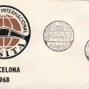 Sellos: AÑO 1968, CONGRESO DE FISITA (INGENIEROS DEL AUTOMOVIL) VOLANTE, SOBRE DE ALFIL . Lote 167162108