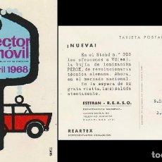 Sellos: AÑO 1968, SALON DEL AUTOMOVIL DE BARCELONA, EN TARJETA DEL SALON. Lote 167162600