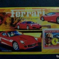 Sellos: AUTOMOVILES-FERRARI-GUINEA-2006-BLOQUE**(MNH). Lote 167488428