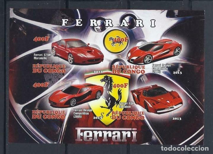 CONGO 2013 HB *** AUTOMOVILES - FERRARI - COCHES (Sellos - Temáticas - Automóviles)