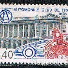 Sellos: FRANCIA IVERT Nº 2974, AUTOMOVIL CLUB DE FRANCIA, CENTENARIO. NUEVO ***. Lote 170533412
