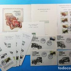 Sellos: LOTE FILATELICO SALON INTERNACIONAL BARCELONA 1977, AUTOMOVILES ANTIGUOS ESPAÑOLES, VER DESCRIPCION. Lote 173228512