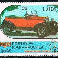 Sellos: CAMBOYA 784, MERCEDES BENZ DE 1920, USADO. Lote 176104874