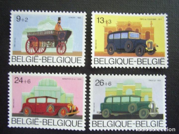 BELGICA Nº YVERT 2232/5*** AÑO 1986. AUTOMOVILES ANTIGUOS BELGAS (Sellos - Temáticas - Automóviles)