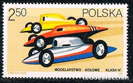 POLONIA 2765, MODERLISMO DEPORTIVO, COCHES, NUEVO SIN GOMA (Sellos - Temáticas - Automóviles)