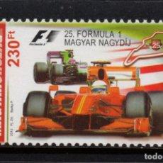 Sellos: HUNGRIA 4416** - AÑO 2010 - AUTOMOVILES - GRAN PREMIO DE FORMULA I DE HUNGRIA. Lote 177179835