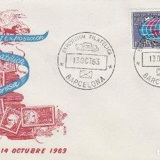 Sellos: AÑO 1963, V EXPOSICION FILATELICA SEAT, MATASELLO DE 13-10-1963 EN SOBRE DE ALFIL. Lote 178891366