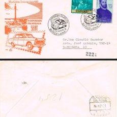 Sellos: AÑO 1960, SEAT 600, EXPOSICION DE SEAT, MATASELLO DE 30-10-1960 SOBRE DE PANFILATELICAS CIRCULADO. Lote 178893012