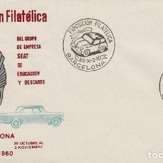 Sellos: AÑO 1960, SEAT 600, EXPOSICION DE SEAT, MATASELLO DE 30-10-1960 SOBRE DE ALFIL. Lote 178893112