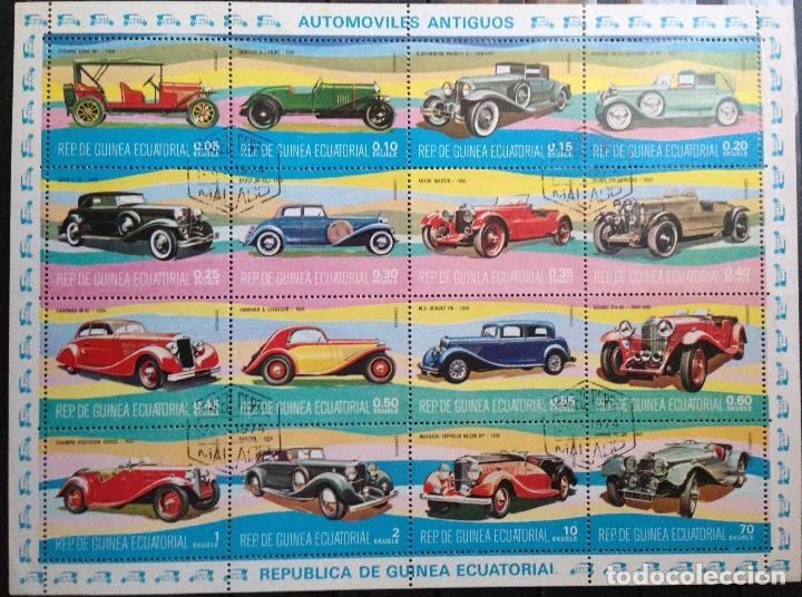 GUINEA ECUATORIAL SELLOS NUEVOS AÑO 1977 AUTOMÓVILES (Sellos - Temáticas - Automóviles)