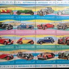 Sellos: GUINEA ECUATORIAL SELLOS NUEVOS AÑO 1977 AUTOMÓVILES. Lote 181026405