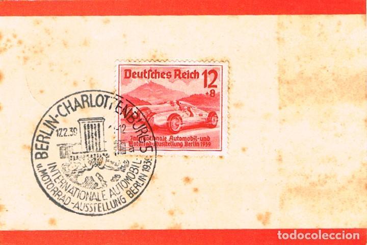 ALEMANIA REICH IVERT 628, SALÓN INT. AUTOMOVIL EN BERLIN (UNION DE MERCEDES), PRIMER DIA 17-2-1939 (Sellos - Temáticas - Automóviles)