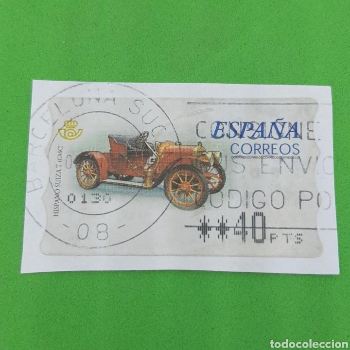 (CF01) SELLO PEGADO USADO ESPAÑA (Sellos - Temáticas - Automóviles)