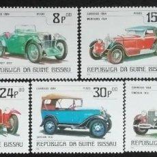 Sellos: 1984. AUTOMÓVILES. GUINEA BISSAU. 259 / 265. 150 AÑOS NACIMIENTO GOTTLIEB DAIMLER. NUEVO.. Lote 184080120