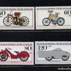 Sellos: ALEMANIA 1000/03** - AÑO 1983 - MOTOCICLETAS HISTORICAS. Lote 185017025