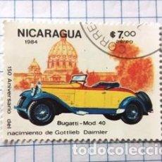 Sellos: SELLO NICARAGUA (BUGATTI - MOD 40). Lote 190145043