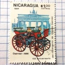 Sellos: SELLO NICARAGUA (DAIMIER - 1886). Lote 190145066