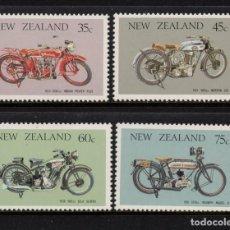 Sellos: NUEVA ZELANDA 920/23** - AÑO 1986 - MOTOCICLETAS ANTIGUAS. Lote 191187371