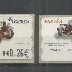 Sellos: ESPAÑA ATM AUTOMOVIL CAR DONOSTI 2 MAQUINAS. Lote 191333066