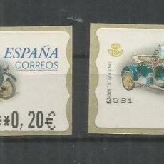 Sellos: ESPAÑA ATM AUTOMOVIL CAR HUMBER T 2 MAQUINAS. Lote 191333207