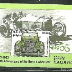 Sellos: MALDIVAS 1993 HB IVERT 293 *** CENTENARIO 1º COCHE DE 4 RUEDAS DE KARL BENZ. Lote 191624743
