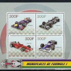 Sellos: CONGO 2015 HB *** AUTOMOVILES - COCHES DE FORMULA I. Lote 191706531