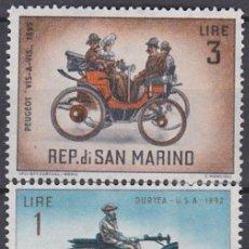 Sellos: LOTE SELLOS NUEVOS - RP. DE SAN MARINO - COCHES - AHORRA GASTOS COMPRA MAS SELLOS. Lote 191739721