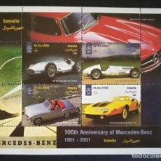 Sellos: SELLOS SOMALIA 2001 CENTENARIO DE MERCEDES BENZ. Lote 194145986