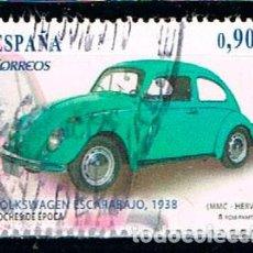 Sellos: EDIFIL 4788 C, COCHES DE EPOCA, VOLKSWAGEN ESCARABAJO (AÑO 1938), USADO. Lote 194516602
