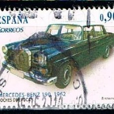 Sellos: EDIFIL 4788 A, COCHES DE EPOCA, MERCEDES BENZ 190 (AÑO 1962), USADO. Lote 194516673